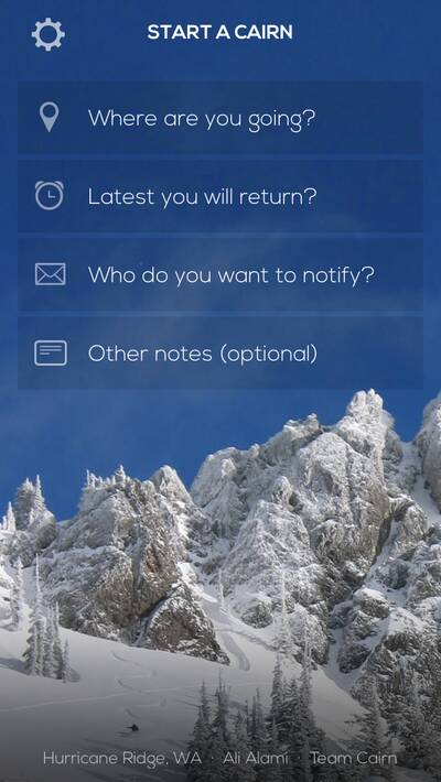 cairn backpacking app trip
