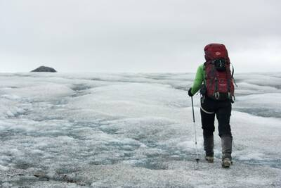 reasons to hike with trekking poles glacier