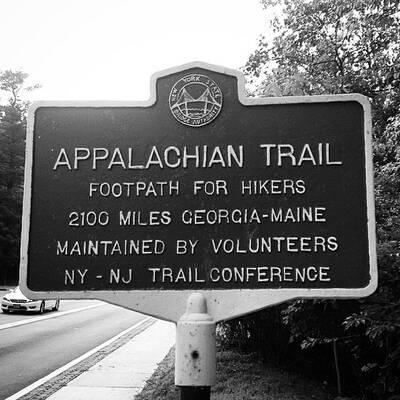 appalachian trail on the rise main sign