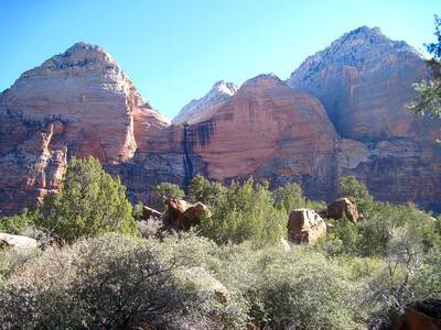 zion national park sand bench trail