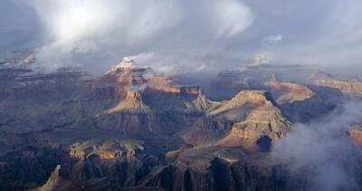 epic winter hikes winter hiking in the grand canyon clouds