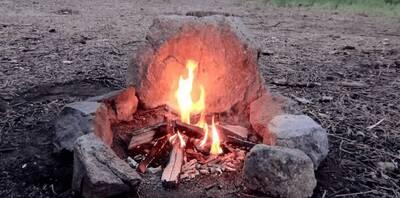 smokeless fire stone
