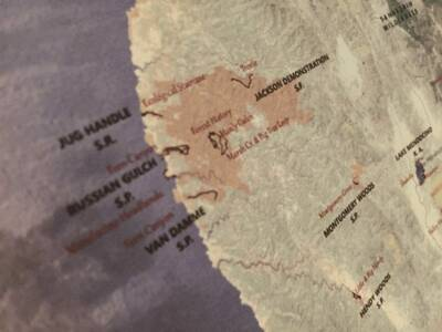 california hiking map preview kickstarter