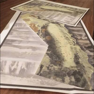 california hiking map preview kickstarter planning