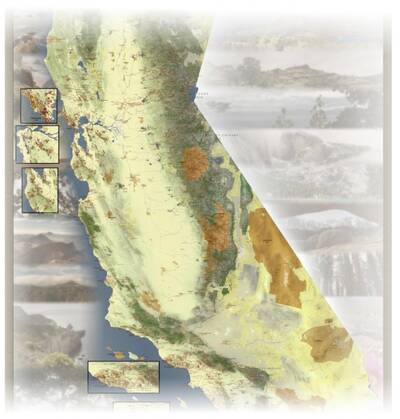 california hiking map preview whole state