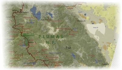 california hiking map preview plumas national forest
