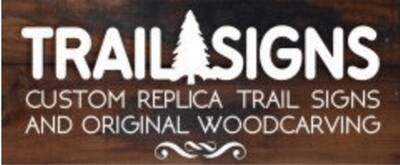 custom backpacking signs trailsigns