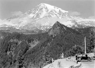 View of Mt. Ranier from Ricksecker Point george grant