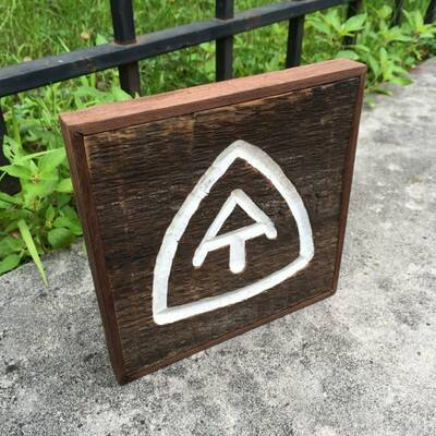 appalachian trail love custom backpacking signs trailsigns