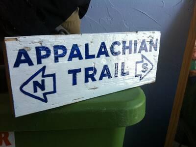 custom backpacking signs appalachian trail