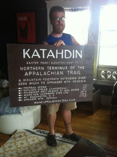 custom backpacking signs trailsigns phillip ouellette katahdin