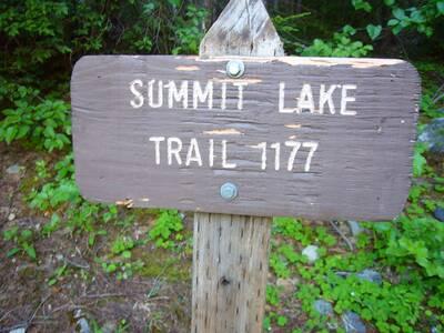 hike summit lake trail #1177