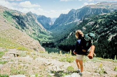 backpacking in grand teton women in backpacking