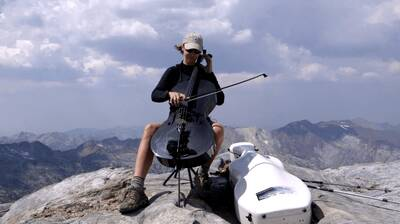 cello on a mountaintop ruth boden wallowa mountains
