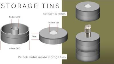 vssl mini models flashlight with storage custom storage tins pill fob