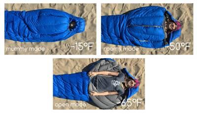 zipperless sleeping bag magnets nozipp modes