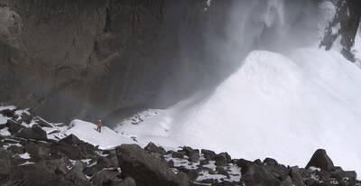 frazil ice phenomenon snow cone ice cone upper falls yosemite national park