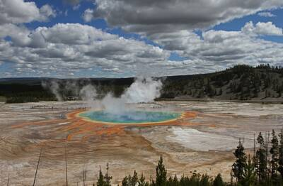 Yellowstone NP Midway Geyser Basin Neal Herbert week of free national parks