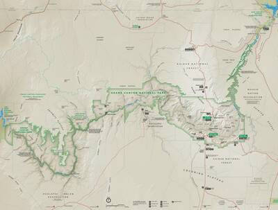 grand-canyon-national-park-map Every National Park Service Map