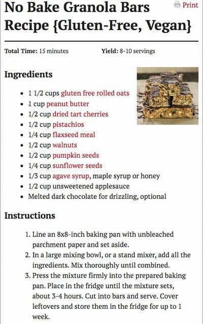 thru-hiking nutrition recipe