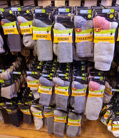 backpacking gear worth spending money on gear list beat up hiking socks in store