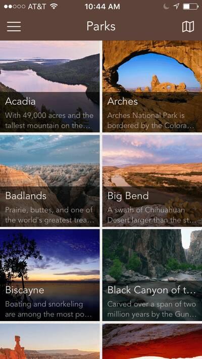 Chimani National Parks App National Parks