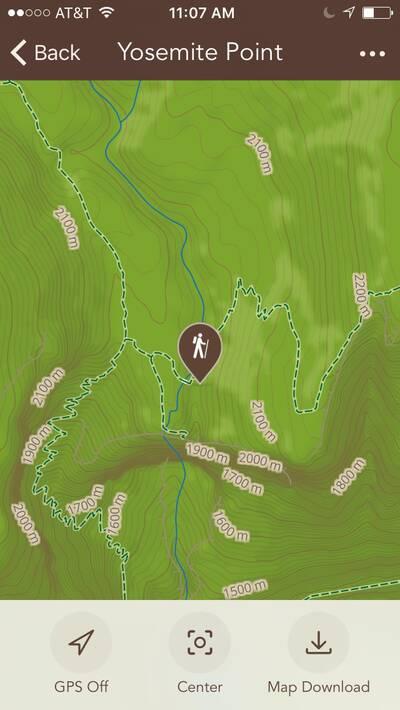 Chimani National Parks App App Map