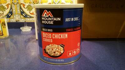 homemade backpacking Meals Chicken can