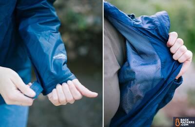 columbia arcadia ii affordable rain jacket -velcro-cuffs-and-interior-mesh