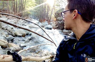 Rab Xenon XTechnical Hoodie creek diving