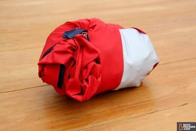 Patagonia M10 ultralight hardshell Rain Jacket chest pocket stuffability