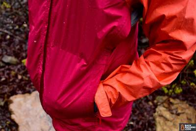 Patagonia Torrentshell Environmentally Friendly Rain Jacket hand pockets pit zips