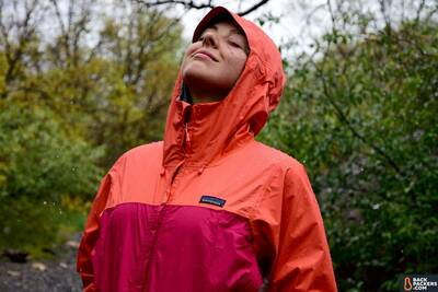 Patagonia Torrentshell Environmentally Friendly Rain Jacket happy in the rain