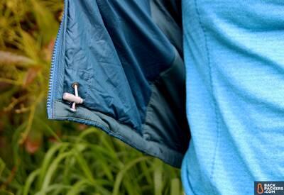 Montbell UL Thermawrap packable jacket stuff sack hem adjustments