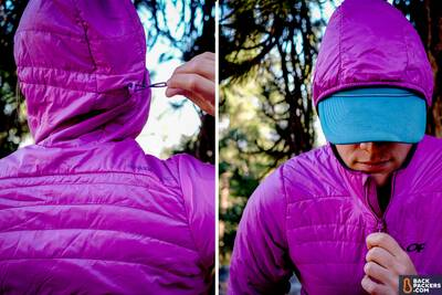 Outdoor Research Cathode breathable insulated puffy hood