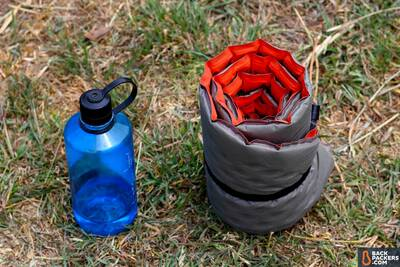 self-inflating-sleeping-pad-nalgene-water-bottle-size-comparison-sleeping-pad-guide