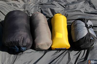 stuff sacks compressed sleeping bags and quilts guide