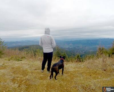 the-north-face-dryzzle-jacket-review-hike-view-dog