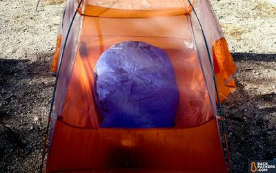 Feathered-Friends-Egret-Sleeping-Bag-review-logo-featured-in-tent