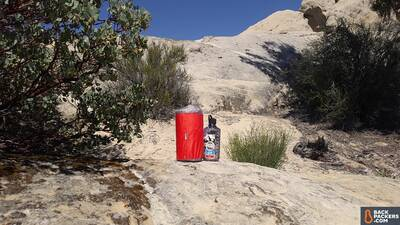Sea-to-Summit-Comfort-Plus-Insulated-Review-size-comparison-with-Nalgene
