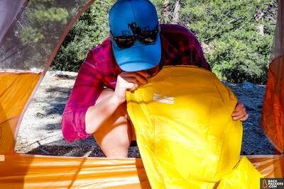 Therm-a-Rest-NeoAir-XLite-review-inflating-the-pad-by-mouth