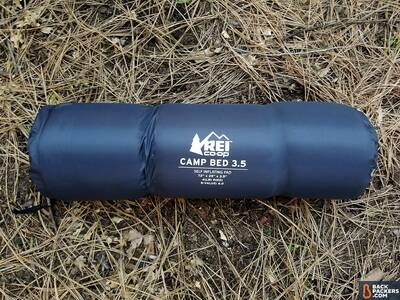 rei-camp-bed-3.5-review-logo-rolled-up