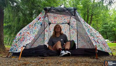 REI-Trail-Pod-29-review-in-the-tent