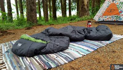 REI-Trail-Pod-29-review-sleeping-bag-and-tent