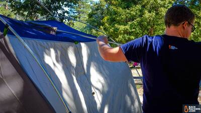 REI-Kingdom-4-Tent-review-pole-setup