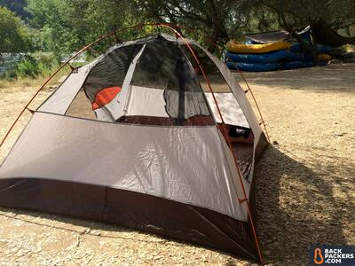 Alps-Mountaineering-Lynx-4-review-set-up-on-river-2