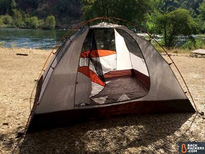 Alps-Mountaineering-Lynx-4-review-set-up-on-river