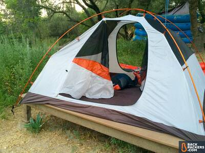 Alps-Mountaineering-Lynx-4-review-tent-set-up-on-stand