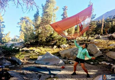 Big Agnes Copper Spur HV UL2 Review-shaking-the-tent-out