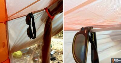 Big Agnes Copper Spur HV UL2 Review-sunglass-hanger